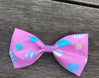 Pink Easter Egg Dog Bow Tie