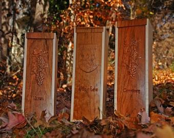 Custom Carved Wine Gift Box