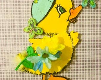 Easter duckling magnet