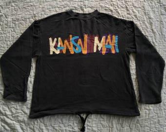Vintage KANSAI YAMAMOTO MAN Spell Out Made In Japan Crew Sweatshirts Sweater O2