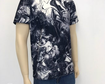 Liquified Ink Marble effect T-Shirt