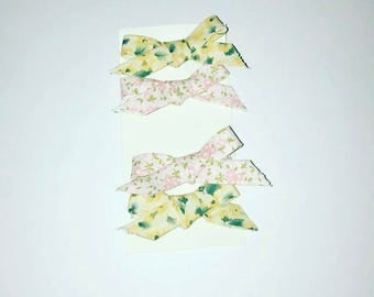 Baby bow floral hair clip set