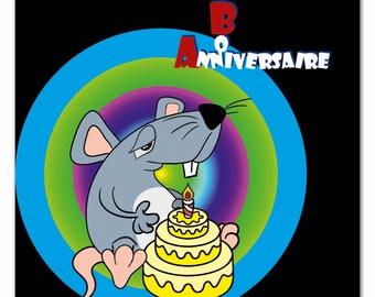 Birthday greeting card, card friendship, encouragement card, card happy birthday
