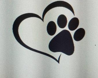 Heart Dog Decal