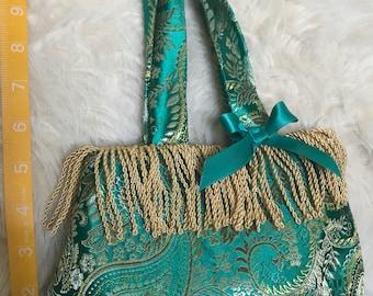 Emrald Brocade purse