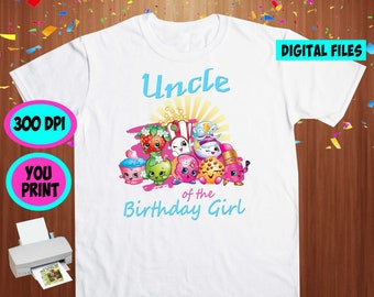 Shopkins. Iron On Transfer. Shopkins Printable DIY Transfer. Shopkins Uncle Shirt DIY. Instant Download. Digital Files Only.