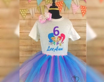 Shimmer and shine birthday tutu