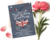 Royal Wedding Invitation 5x7 Instant Digital Download Art Printable Adobe pdf Harry and Meghan You edit yourself!