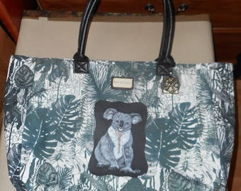 Koala Bear Hand Painted  Designer Handbag Bag Purse