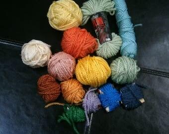 Mixed Lot Plastic Canvas Yarn Lot Sale, 4.30 Ounces Darice Nylon Plus Yarn, Clearance Sale