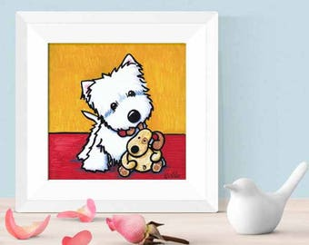 Choice of KiniArt Dog Art PRINT Signed Reproduction