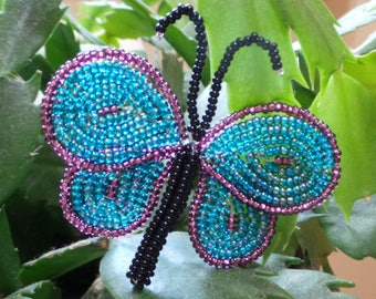 French Beaded Butterfly Plant Stick