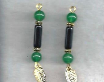 Obsidian & Aventurine Earrings