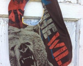 CRAZY SALE- Wild Bear Bib-Wee Ones Bib-Tshirt Collection
