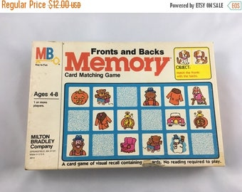 ECLIPSE SALE- Vintage Memory Game-Mixed Media Supply-Game Cards