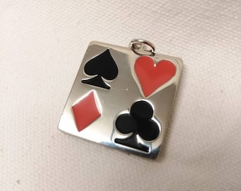 Card Suites Pendant Alice in Wonderland Spade Heart Diamond Club