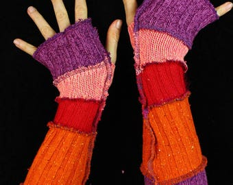 Arm Warmers - WOOL-FREE - made from upcycled sweaters