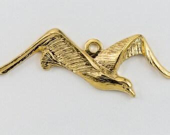 25mm Gold Seagull Charm #CHA110