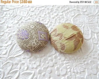 CLEARANCE - Lavender button, fabric button, fabric button, set of 2 buttons, 1.5 inches