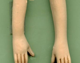 Polymer Clay   Doll  Tan Arms with Hands drilled
