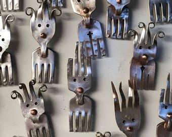 Fork Deer ~ Reindeer Magnet