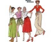 des années 70 non-coupe Betsey Johnson papier sac Taille Jupe modèle Designer Short motif vintage 34-26,5-36 pantalon large modèle Butterick 8 467