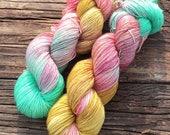 Vintage Christmas In The Park- 75/25 SW Merino, Nylon - Sock Yarn - Fingering Yarn - Hand Painted Yarn - Lagniappe Sock - Dyed To Order