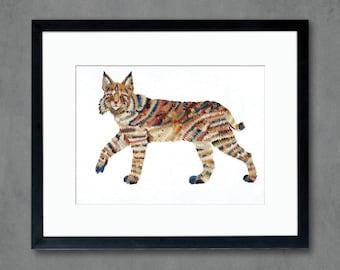 Mammals of North America: Bobcat Art Print
