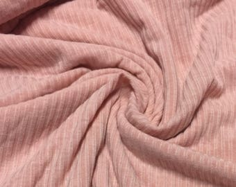 Ribbed Spandex Jersey Knit Fabric 1-1/4 Yards