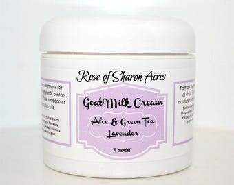Goat Milk Cream with Green Tea Extract and Aloe - 4 ounces