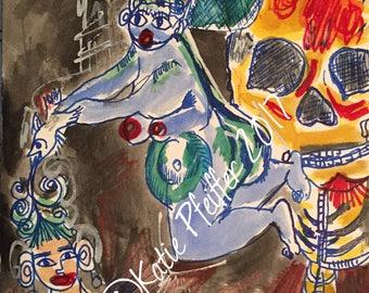 Personal art Menopause Change Original painting