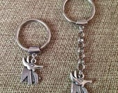 SUMMER SALE Silver Anubis Keychain / Anubis Key Chain / Anubis Key Ring / Egyptian Key Chain/ Egyptian Key Ring / Mens Keychains