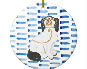 BESPECTACLED on BLUE CHRISTMAS Ornament