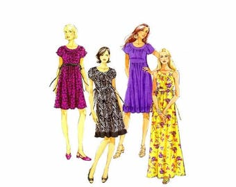 SALE Misses Raglan Sleeve or Sleeveless Dress Butterick 5348 Sewing Pattern Size 8 - 10 - 12 - 14 Bust 31 1/2 - 32 1/2 - 34 - 36 Uncut