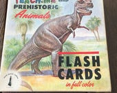 43 Vintage prehistoric flashcards 1962 small prints bugs Teach Me About Prehistoric Animals dinosaurs
