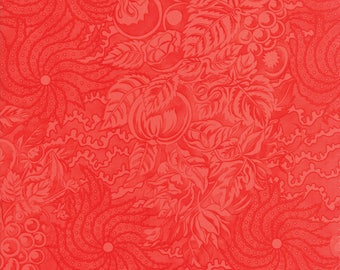 Hazel and Plum - Tapestry in Pomegranate Red: sku 20296-11 cotton quilting fabric by Fig Tree and Co. for Moda Fabrics