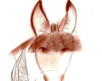 Original drawing Donkey Wings