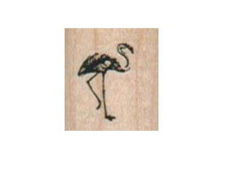 rubber stamp Small Flamingo  pink bird   number 2940 unmounted, cling stamp, wood mounted stamps scrapbooking