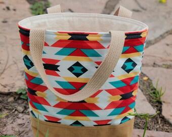 Toddler tote bag, Scripture bag, bible, Beach, pool, library bag, diaper bag, Dance bag, preschool, Book bag, kid bag, Aztec, Arizona, Brown
