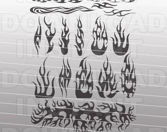 Flames SVG File Cutting Template-Clip Art for Commercial & Personal Use-vector art for Cricut,Explore,SCAL,Cameo,Pazzles,Vinyl,Silhouette