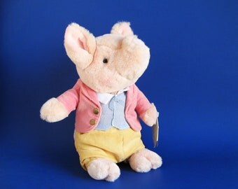 Vintage Pigling Bland Stuffed Animal Beatrix Potter Eden Toys Plush 1980s Toy Tale of Pigling Bland Plush