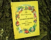 Vintage Hardcover Cookbook Gift - The Ford Treasury of Favorite Receipes from Famous Eating Places c. 1950 by Ford Motor Company Dearborn MI