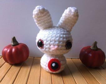 Eyeballs Moon Bun - Bunny Rabbit Amigurumi - October Create a Day Challenge Doll