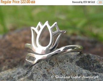 ON SALE TODAY Lotus Flower Ring - Sterling Silver