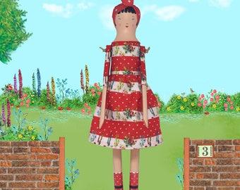 Tilly Wood Peg Doll
