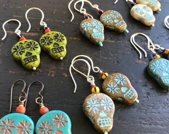 Sugarskull Dangle Earrings