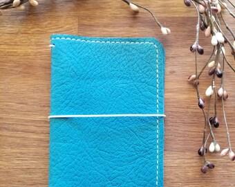 AQUA BohoDori Traveler's Notebook, CAHIER/Standard Wide Leather Planner Journal