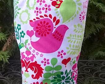 Peace Christmas drawstring bag, WIP bag, project bag, reusable gift bag, Peace Christmas, Suebee
