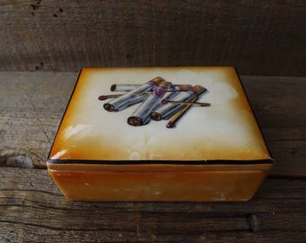 Vintage Cigarette Box, Coffee Table Smoking Box, Vintage Tobcciana, Tobacciana Collector, Cigarette Holder