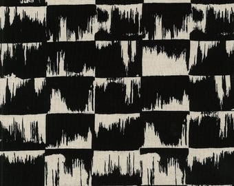 Japanese Fabric Kokka Ellen Baker Paint - brushstrokes - black - 50cm